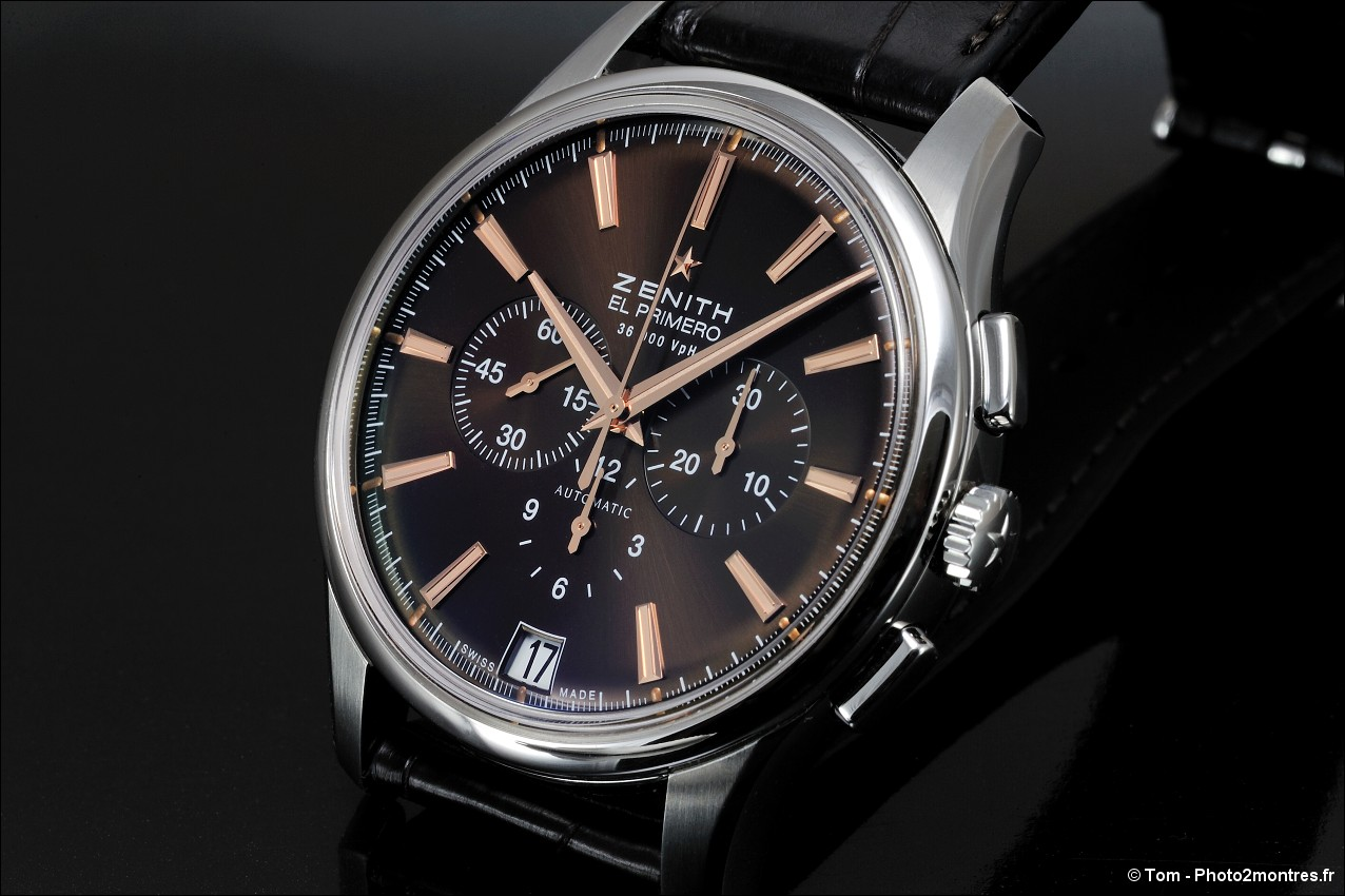 watch pics z nith captain chronograph el primero chocolat. Black Bedroom Furniture Sets. Home Design Ideas